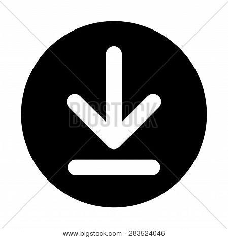 A Download Button Isolated On A White Background