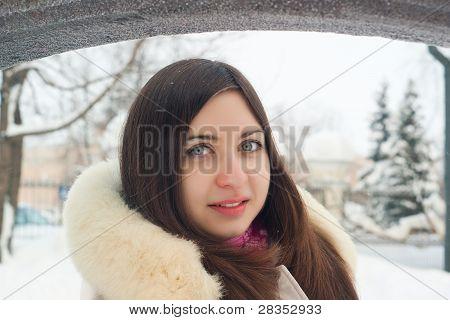 Winter Girl in a coat