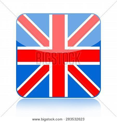 British Flag Icon Isolated On White Background