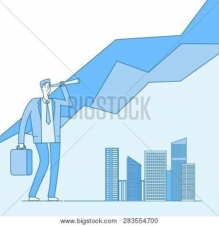 Investors Opportunities. Investor Looking Spyglass Investment Opportunity. Successful Professional B