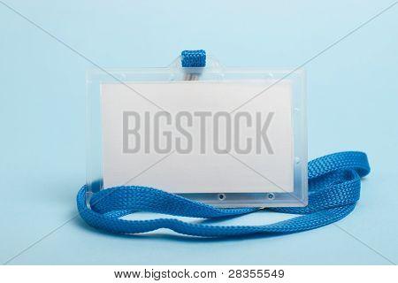upright blank badge