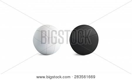 Blank Blank And White Volleyball Ball Mockup Set, Isolated, 3d Rendering. Empty Playing Bal Mock Up.