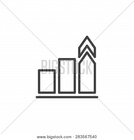 Growth Chart Line Icon. Linear Style Sign For Mobile Concept And Web Design. Growing Chart Outline V