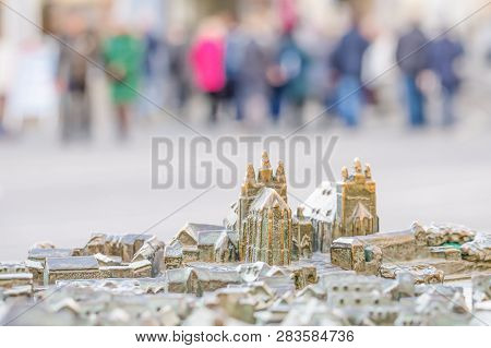 Small Model Of Famous Cathedral And Severi Church In Erfurt, Germany