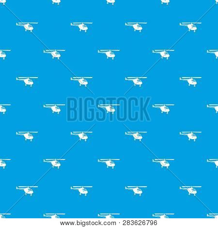 Helicopter pattern repeat seamless in blue color for any design. geometric illustration poster