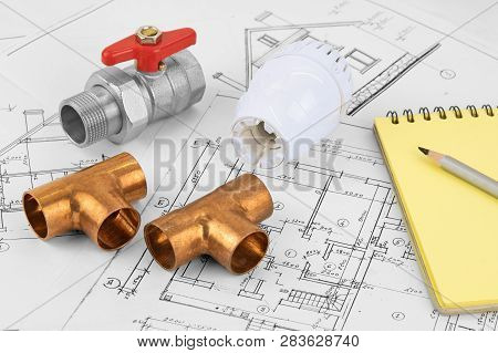 Engineering Heating. Concept Heating. Project Of Heating For House