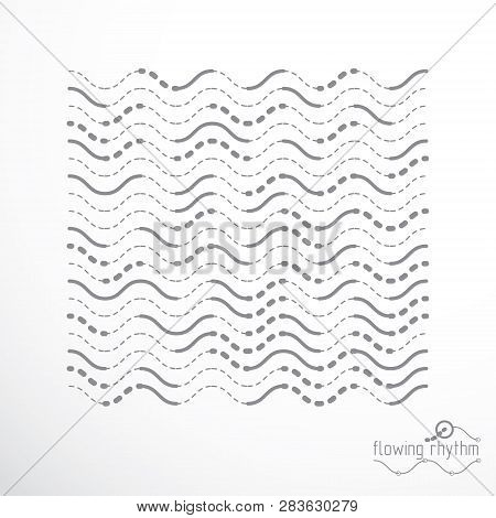 Flowing Stripes, Vector Abstract Wave Lines Illustration For Use As Website Background.