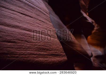 Detail Of Walls In Antelope Canyon In Arizona