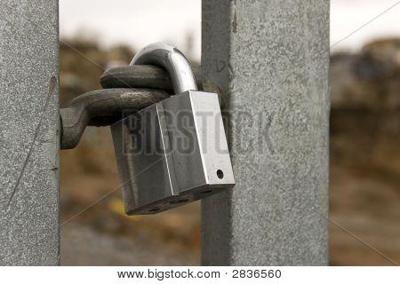 Locked Metallic Padlock