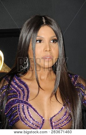 LOS ANGELES - FEB 10:  Toni Braxton at the 61st Grammy Awards at the Staples Center on February 10, 2019 in Los Angeles, CA