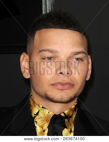 LOS ANGELES - FEB 10:  Kane Brown at the 61st Grammy Awards at the Staples Center on February 10, 2019 in Los Angeles, CA