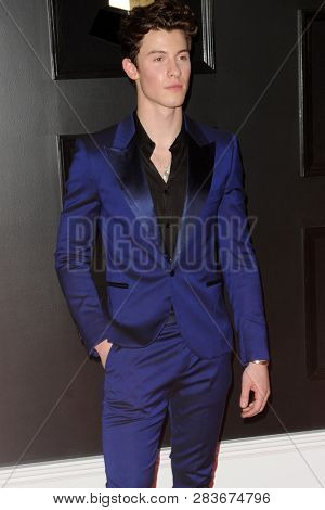 LOS ANGELES - FEB 10:  Shawn Mendes at the 61st Grammy Awards at the Staples Center on February 10, 2019 in Los Angeles, CA