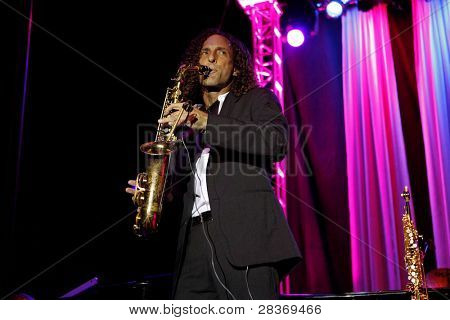 TEMECULA, CA - SEP 12: Kenny G performs at a concert at the 'Rhythm on the Vine' charity dinner to benefit Shriners Children Hospital at the South Coast Winery in Temecula, CA on September 12, 2009