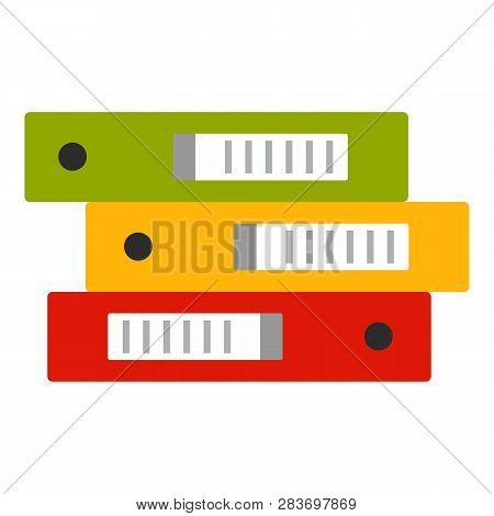 Office Folder Stack Icon. Flat Illustration Of Office Folder Stack Vector Icon For Web Design