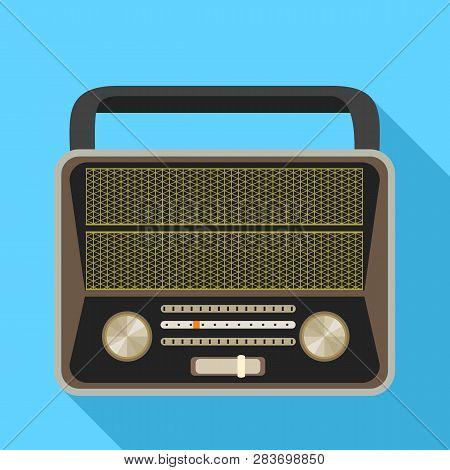 Analog Radio Icon. Flat Illustration Of Analog Radio Vector Icon For Web Design
