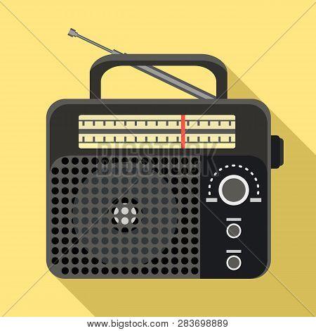 Plastic Radio Icon. Flat Illustration Of Plastic Radio Vector Icon For Web Design