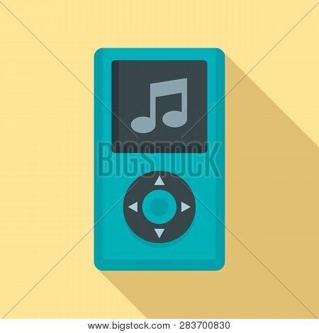 Portable Music Player Icon. Flat Illustration Of Portable Music Player Vector Icon For Web Design