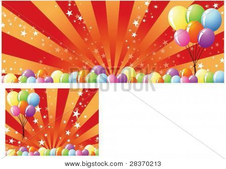 Sample for Festival Banner or Happy Shopping Event  on shiny colorful background