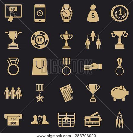 Cash Transfer Icons Set. Simple Set Of 25 Cash Transfer Vector Icons For Web For Any Design