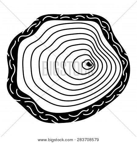 Stump Top View Icon. Simple Illustration Of Stump Top View Vector Icon For Web Design Isolated On Wh