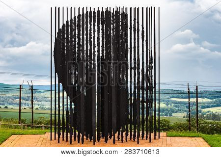 Howick, South Africa - Feb 11, 2019: A Sculpture Of Nelson Mandela At The Nelson Mandela Capture Sit