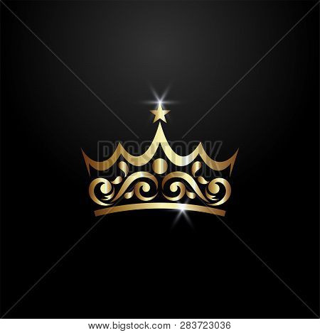 Luxury Crown Logo, Classic And Elegant Logo Designs For Industry And Business, Heraldic Logo ,crest