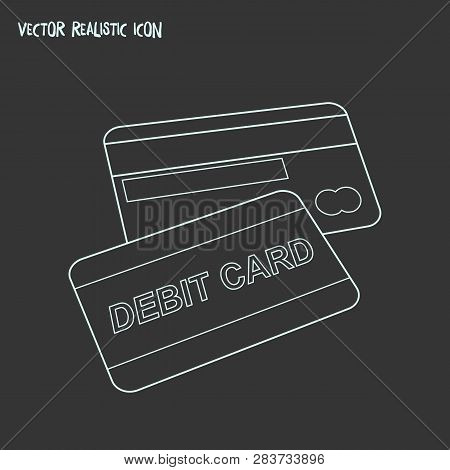 Debit Card Icon Line Element. Vector Illustration Of Debit Card Icon Line Isolated On Clean Backgrou