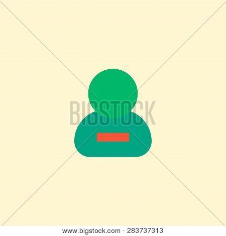 Remove Member Icon Flat Element.  Illustration Of Remove Member Icon Flat Isolated On Clean Backgrou