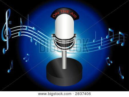 Table Microphone Illustration Vector