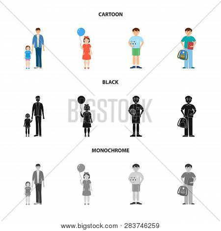 Vector Design Of Character And Avatar  Logo. Collection Of Character And Portrait Vector Icon For St