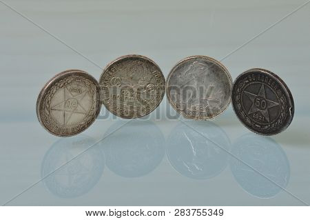 Silver Coins Fifty Kopecks Art Of The Proletariat Minted From 1921 To 1925 The Soviet Union