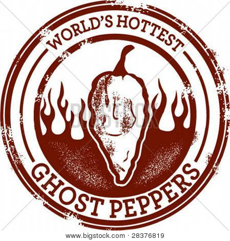 Ghost Chili Pepper Stamp