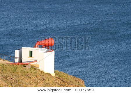 Foghorn on clifftop