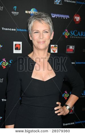 LOS ANGELES - OCT 30:  Jamie Lee Curtis at the sCare Foundation Halloween Launch Benefit at Conga Room  LA Live on October 30, 2011 in Los Angeles, CA