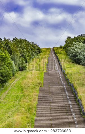 Impressive Image Of The Longest Concrete Staircase In The Netherlands Holland Called Wilhelmina Stai