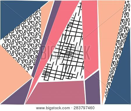 Abstract Color Bright Geometric Background Or Banner Design Element. Vector Overlay Colorful Spotted