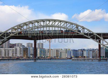 Railway Bridge In Stockholm