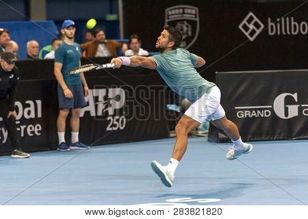 Sofia - February 08.2019: Fernando Verdasco  (spa) Participate At The Atp Sofia Open Tournament In S
