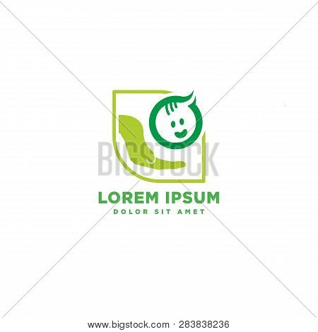 Children Care, Baby Care Logo Template Icon Element Isolated