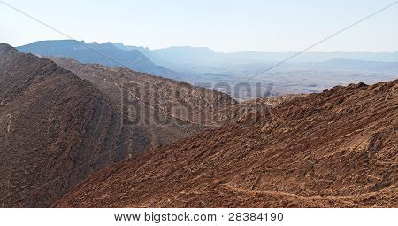 Gorge in the desert crater
