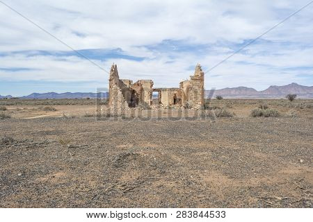 Flinders Ranges, South Australia, Australia - March 16, 2018: Old Abandoned Building Ruins Found Alo