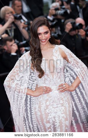 CANNES, FRANCE - MAY 10: Deepika Padukone attends the screening of Sorry Angel during the 71st  Cannes Film Festival at Palais des Festivals on May 10, 2018 in Cannes, France.