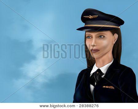 Female Airline Pilot