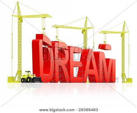 dream come true live your dreams, determination and planning leads to satisfaction. Be positive and optimism lead to success realize your aspirations