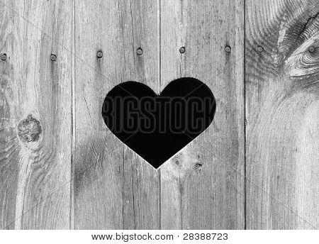 Hjärta form på trä