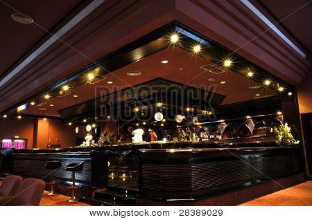 Bar at a trendy nichtclub