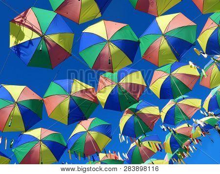 Brazillian Carnival. Symbol Of The Culture Of Pernambuco, Brazil. Frevo, Umbrella, Music, Dance, Cul