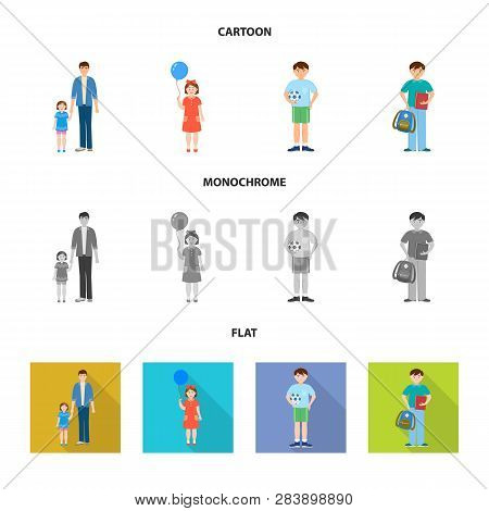 Vector Design Of Character And Avatar  Symbol. Collection Of Character And Portrait Vector Icon For