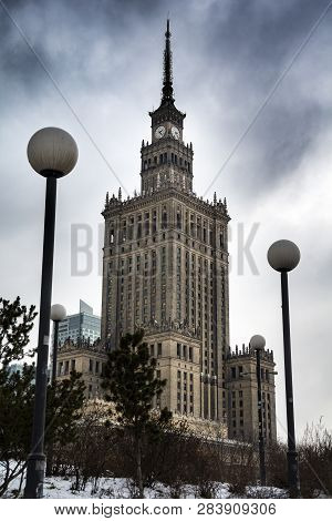 Warsaw Palace Of Culture And Science From Stalin Era