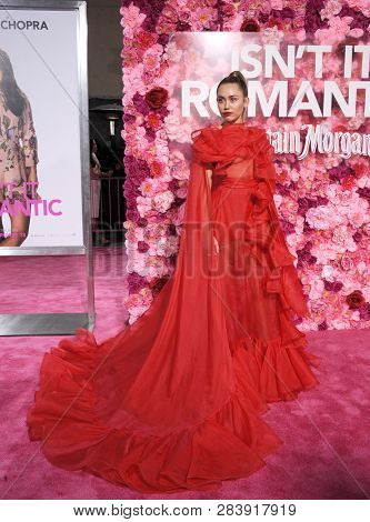 Miley Cyrus at the Los Angeles premiere of 'Isn't It Romantic' held at the Ace Hotel Theatre in Los Angeles, USA on February 11, 2019.